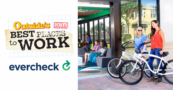 EverCheck Recognized in OUTSIDE's Best Places To Work 2016